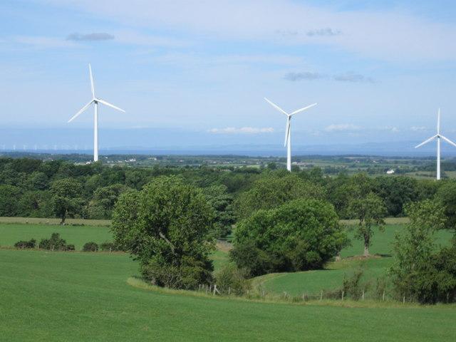 View towards Wind turbines