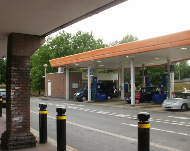 Filling station and kiosk, Sainsbury's, Crindau, Newport
