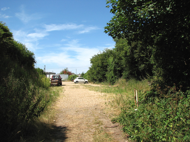 Car park on the dismantled railway trackbed