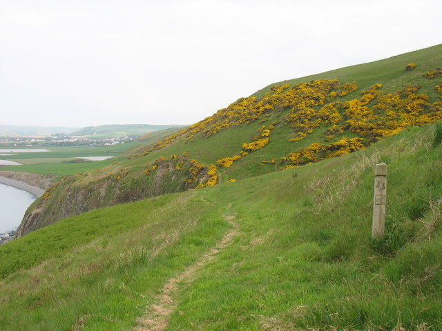 The Ceredigion Coast Path above Graig Ddu