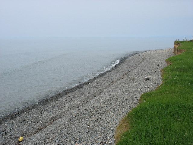 Shingle beach near Morfa Mawr Farm