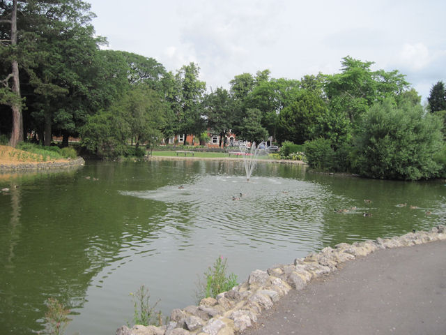 Peoples Park lake to west of Pavilion