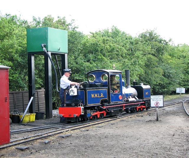 Wells & Walsingham Light Railway - taking on water
