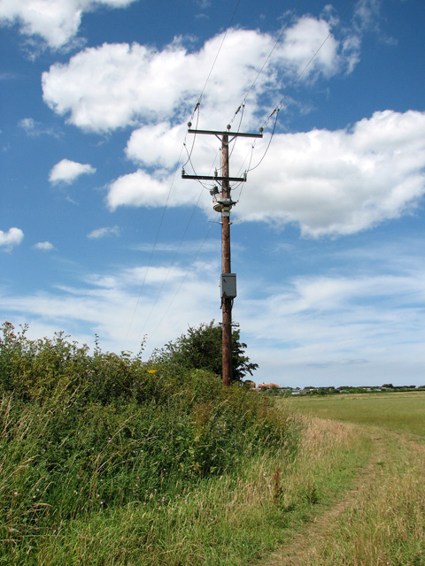 Transformer beside footpath north of the A149 road