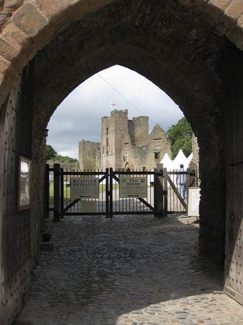 Entrance to Ludlow Castle