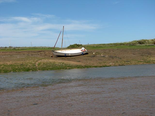 Low tide in Wells creek, Wells-next-the-Sea