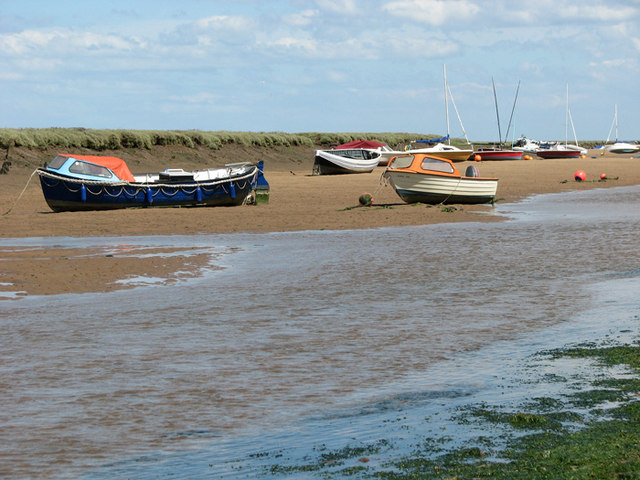 Wells creek at low tide, Wells-next-the-Sea