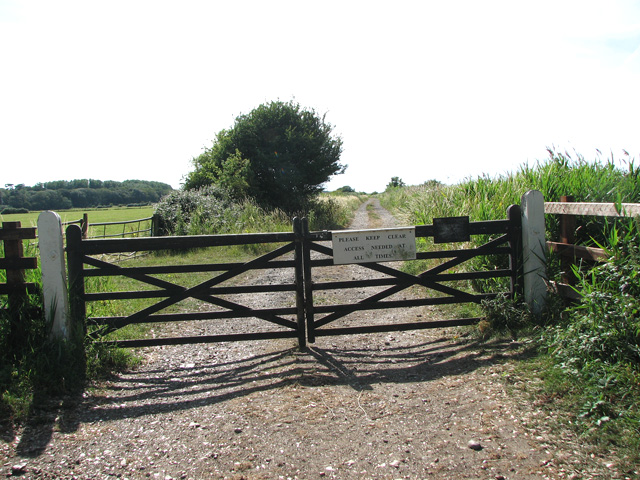 Trackbed of the former Heacham to Wells line