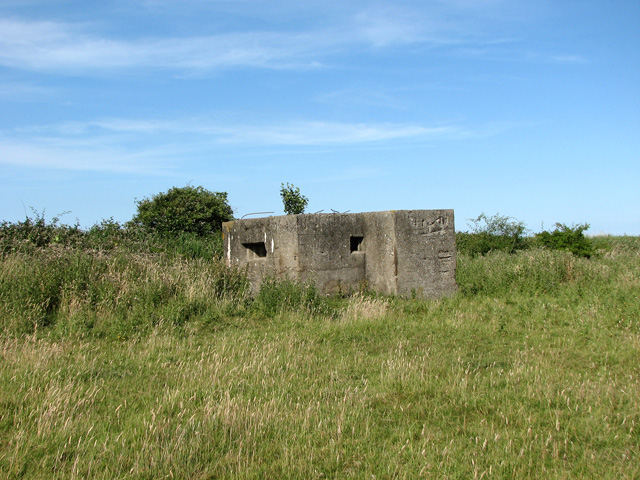 WW2 composite pillbox beside dismantled railway line