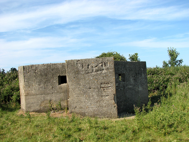 WW2 pillbox south of Holkham Gap
