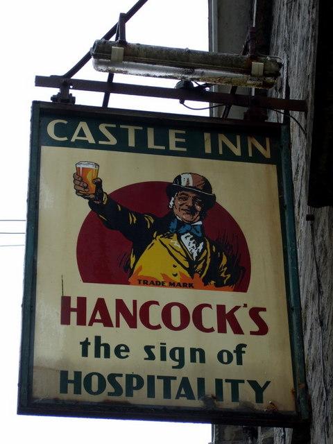 Old sign on Castle Inn