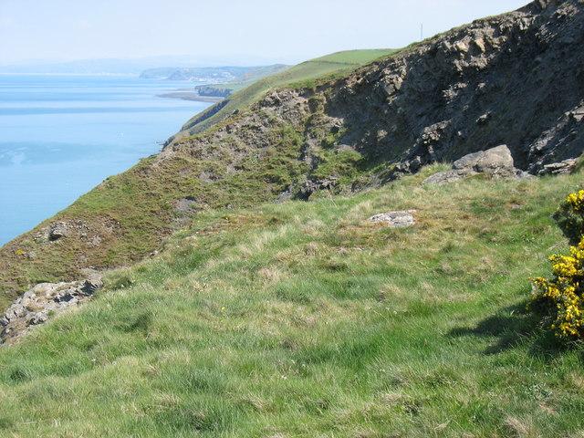 Cliffs near Carreg Ti-pw