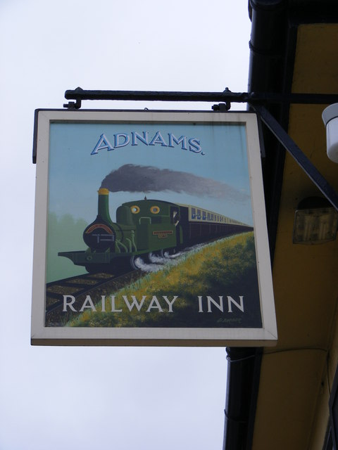 Railway Inn Public House sign