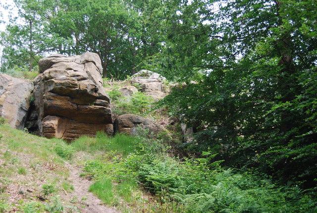 Crags of Tunbridge Wells Sandstone