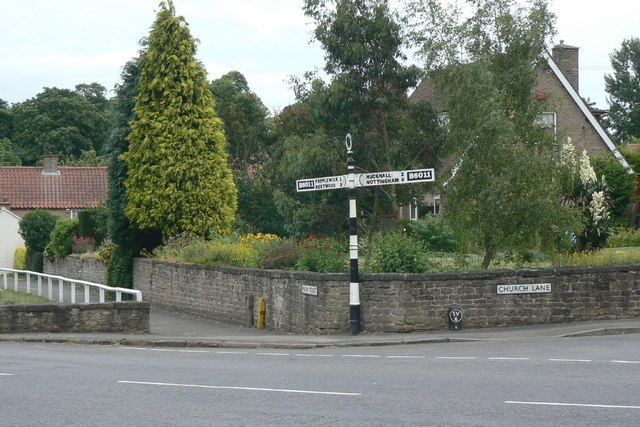Fingerpost at Linby