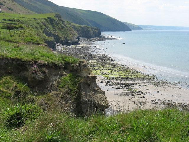 Coast of Cardigan Bay north of Mynachdy'r-graig