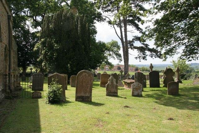 Gravestones on the North side