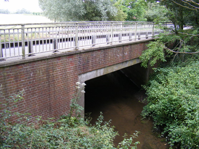 Culvert under the B1116 Woodbridge Road