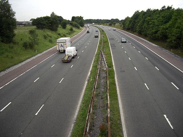 M56 motorway looking west