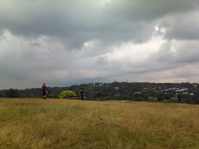 View of Highgate Village from Hampstead Heath
