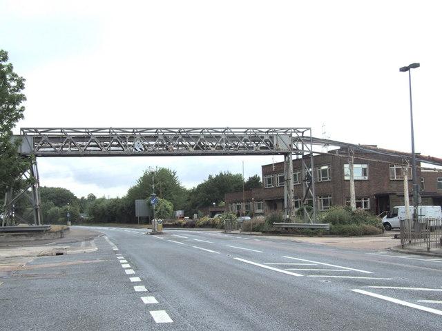 Overhead gantry crossing Formby Road, Halling