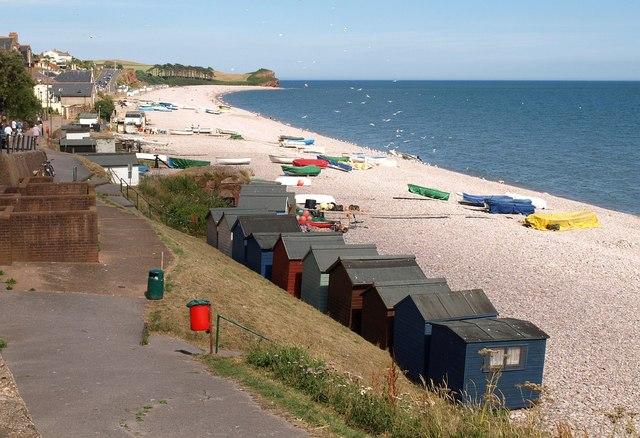 Budleigh Salterton: the beach