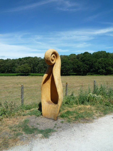 Spa trail sculpture and Highall Woods