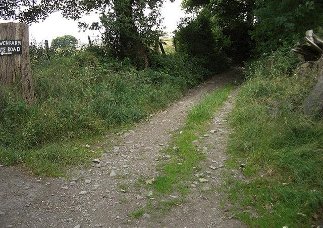 Track to Nant Coed-y-mynydd
