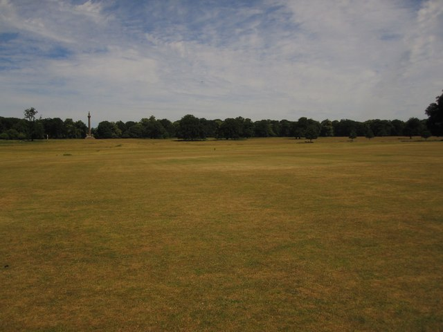 Holkham Hall: the cricket field on the North Lawn