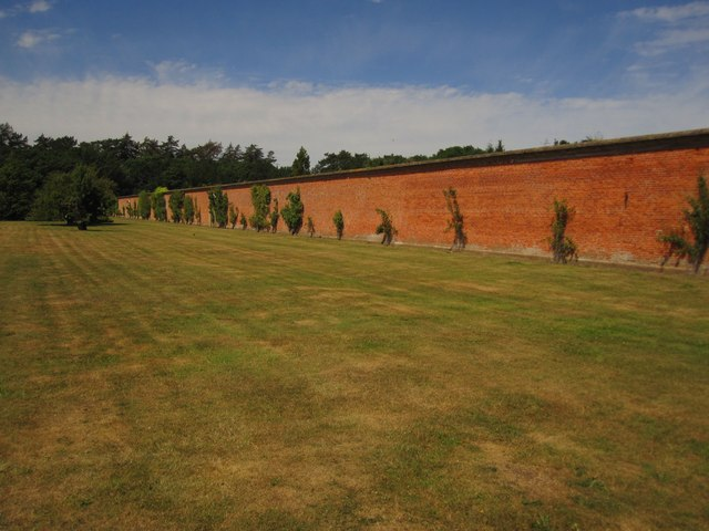 Holkham Park: the south wall of the walled garden