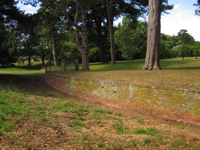 The Ha-ha by Holkham's Walled Garden