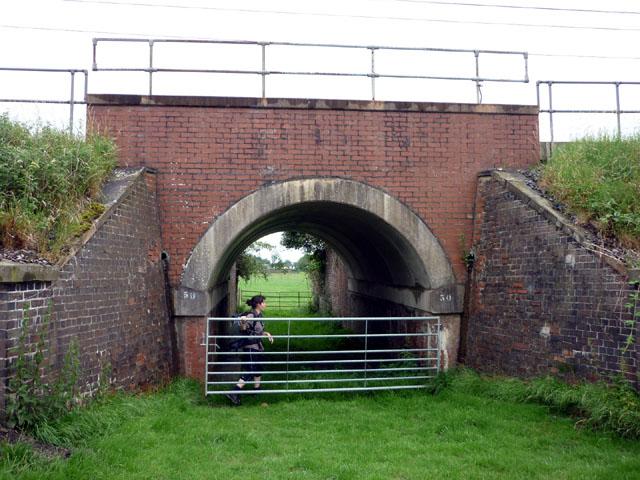 Railway underpass near Catterall