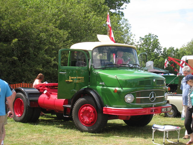 Mercedes Lorry at Darling Buds Classic Car Show