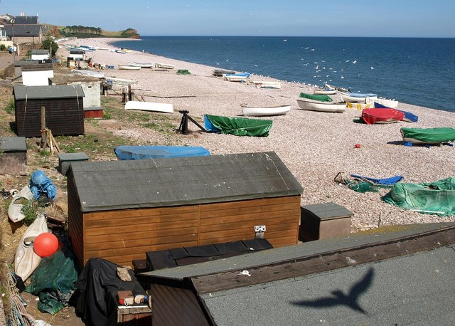 Huts, winches and boats, Budleigh Salterton