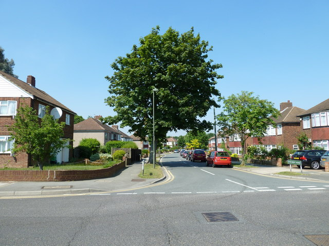 Looking from Shepperton Road into Ryecroft Road