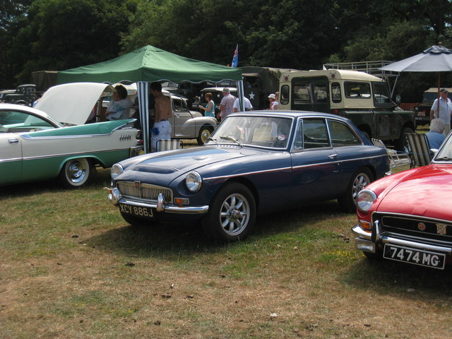 MG C GT at Darling Buds Classic Car Show