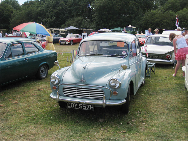 Morris Minor at Darling Buds Classic Car Show