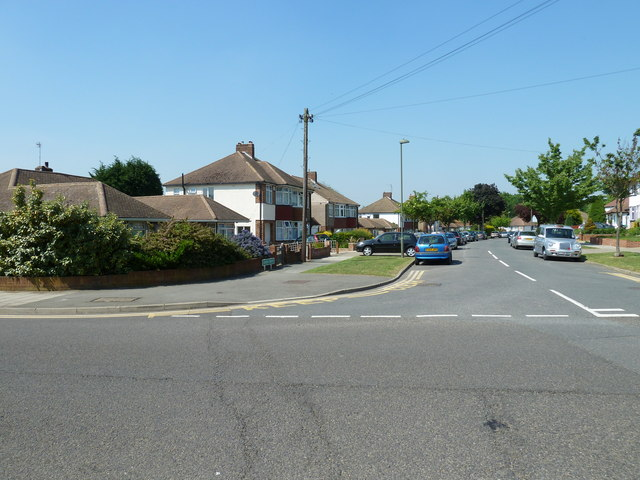 Looking from Shepperton Road into Jersey Drive