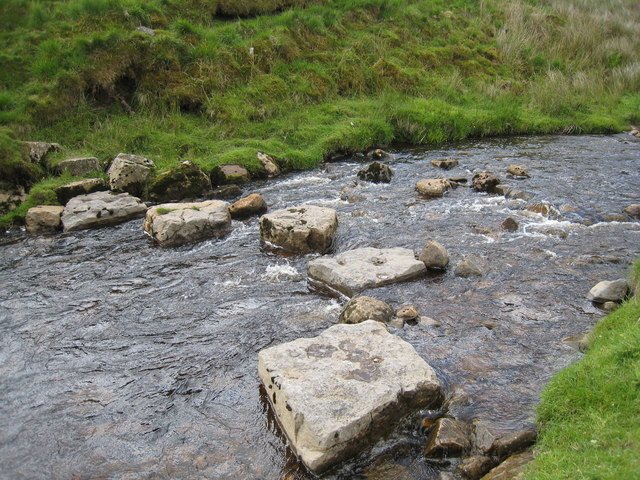 Stepping stones at West Gill