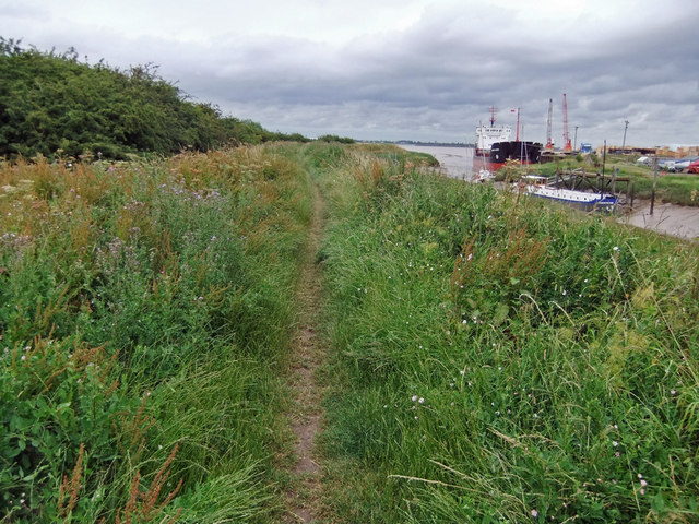 Public Footpath at Barrow Haven