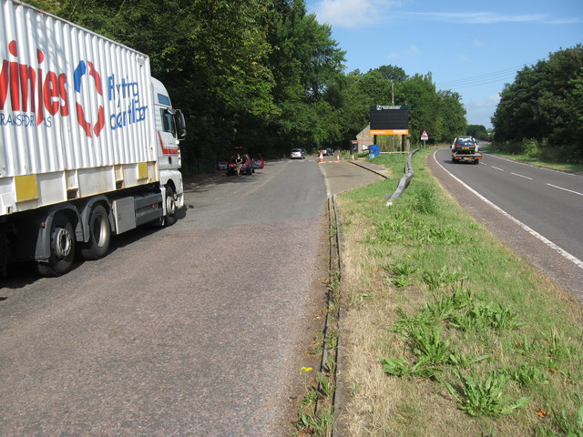 Lay-by on the A40 approaching Oxford