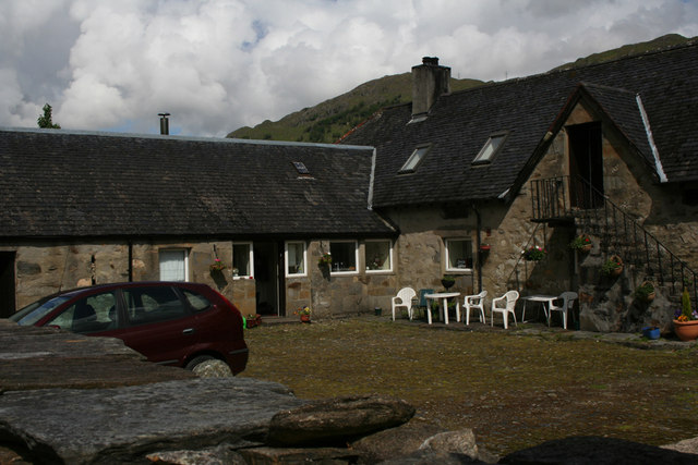 Tea room in steading at Kinlochhourn.