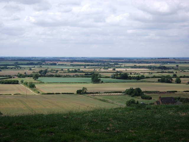 Looking north-west from Hardwick Hill