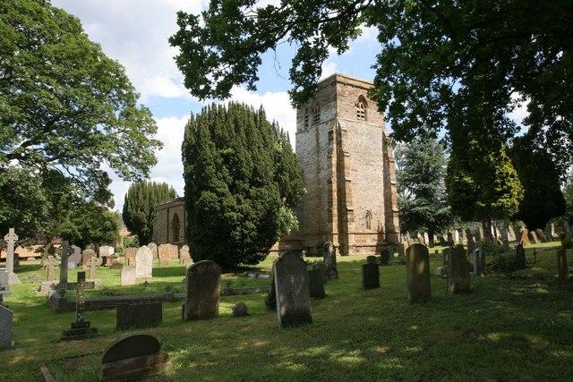 Tower across the graveyard