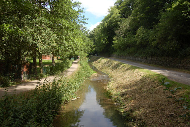 Stream alongside road at Hubbards Hills