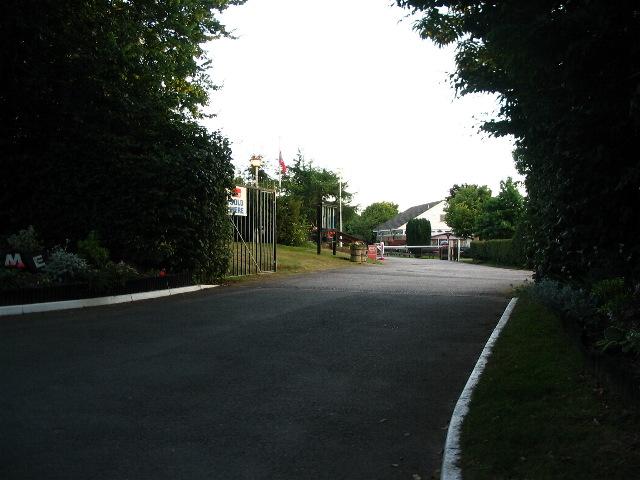 Campsite entrance, Bekesbourne Lane
