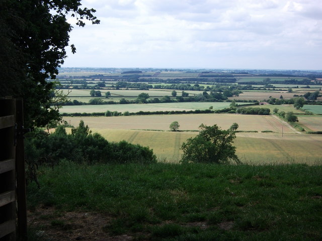 Looking west from Hardwick Hill