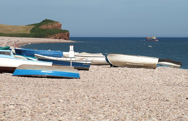 Boats at Budleigh Salterton