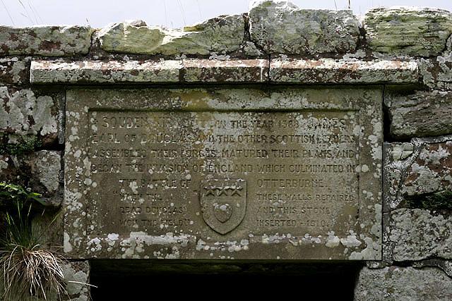 An inscription at Southdean Old Parish Church