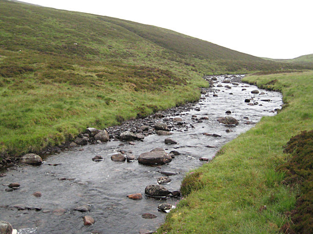 Upstream from the bridge